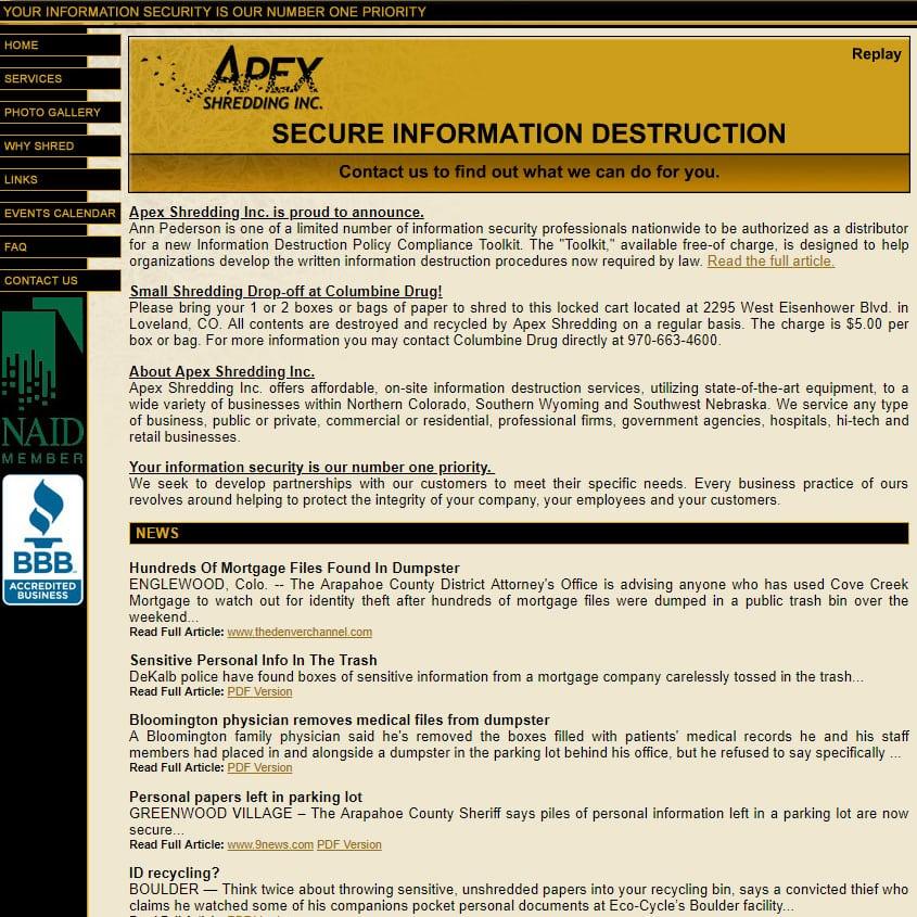 Apex Shredding Inc