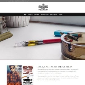 Smoke and More Smoke Shop Website